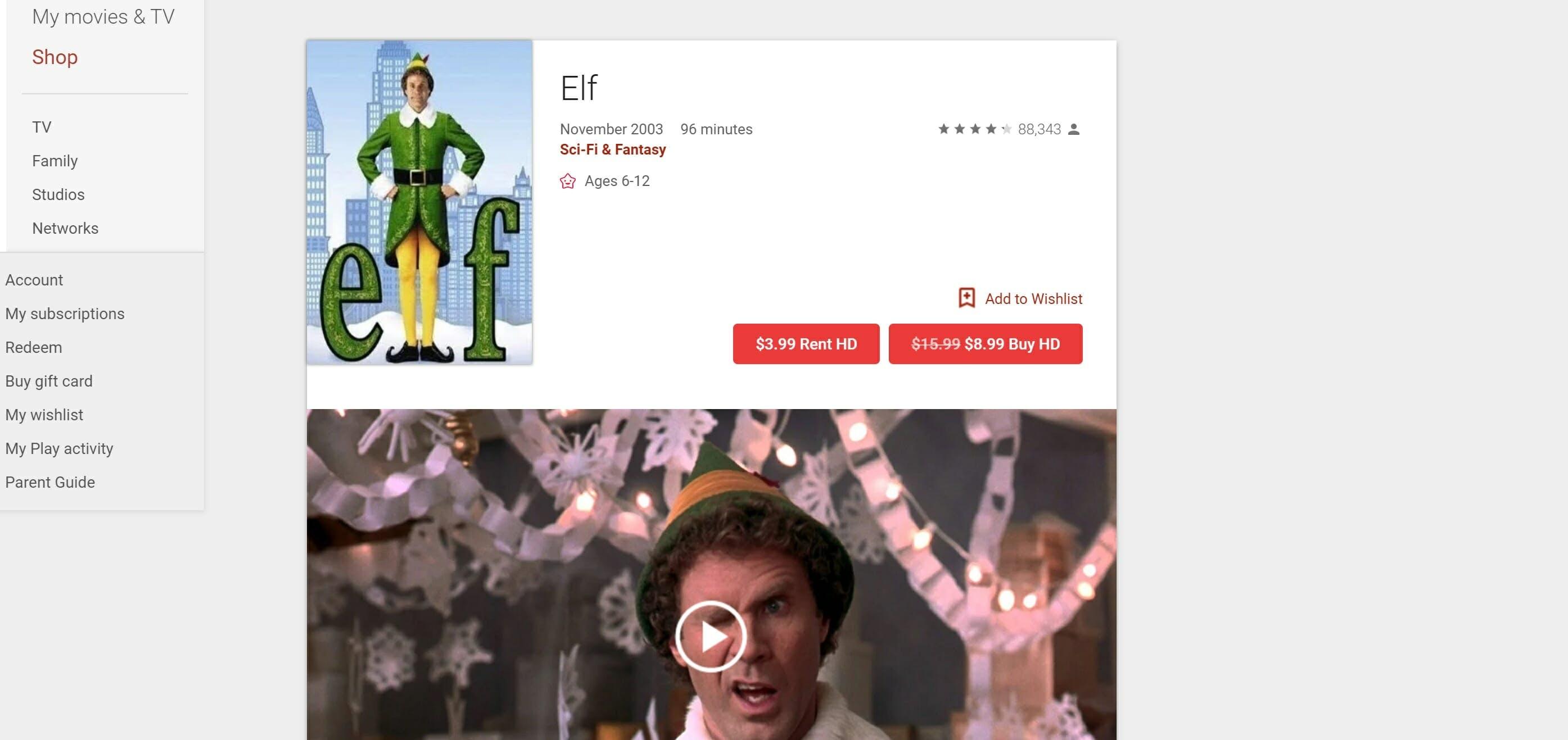 watch elf online free - google play
