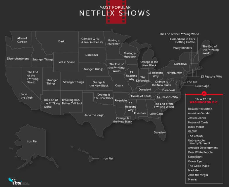 netflix most popular shows by state