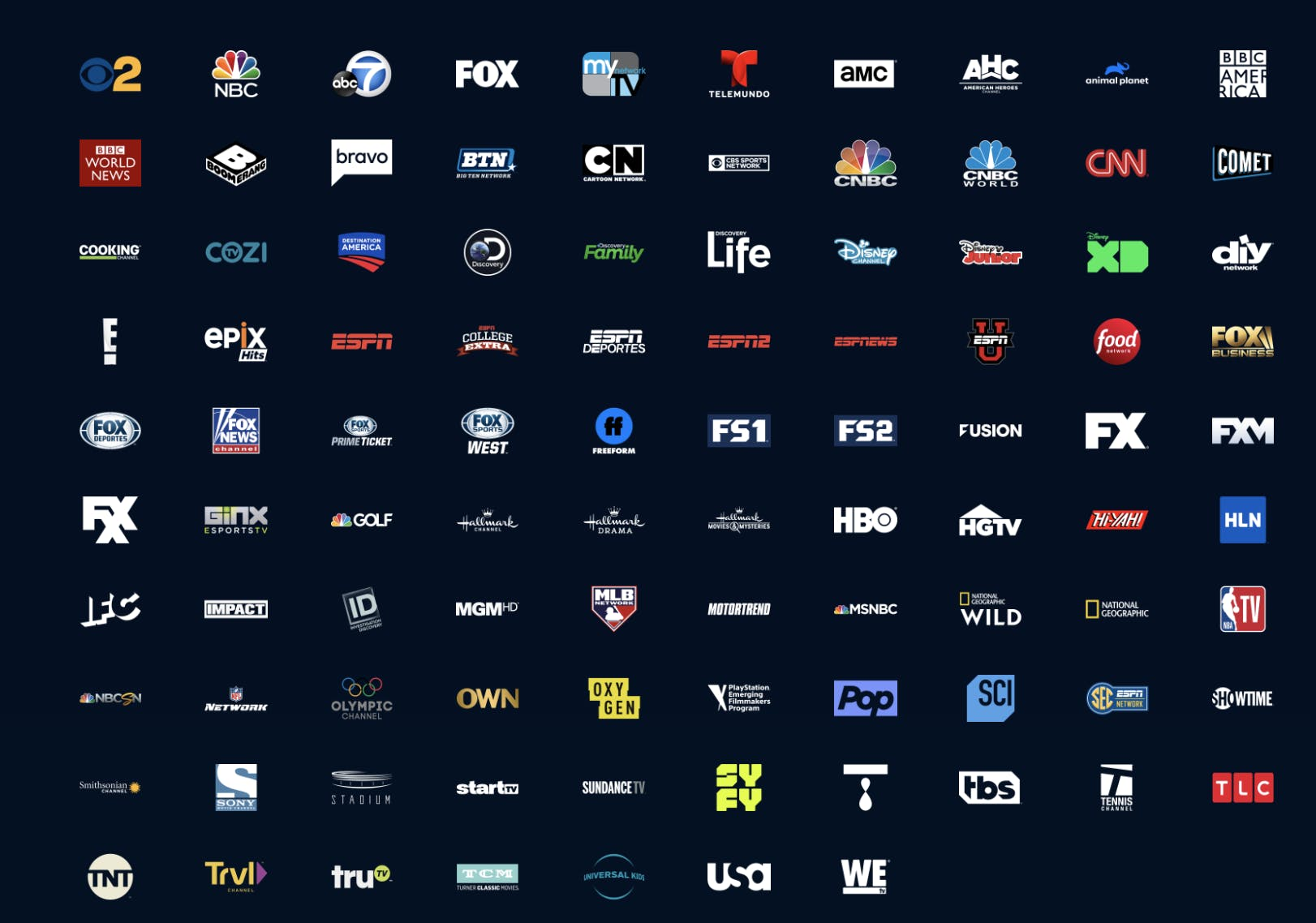 playstation vue local channels list