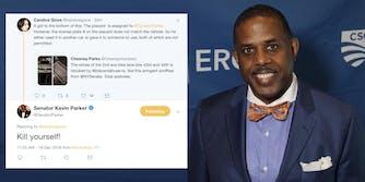 senator kevin parker kill yourself tweet