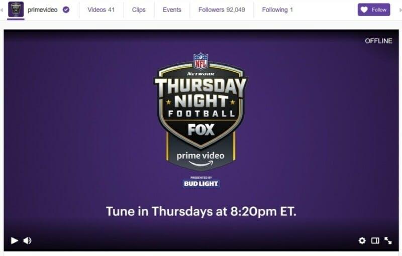 Thursday Night football stream Twitch Ninja
