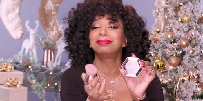 Tiffany Pollard hosts Fenty Beauty holiday gift guide.