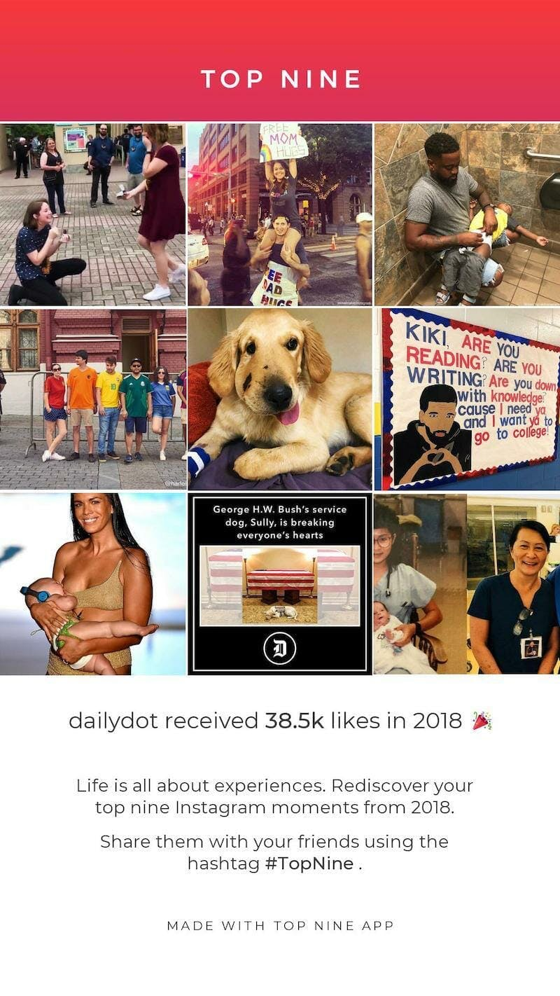 top-nine-instagram-2018-daily-dot