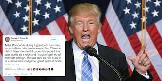 Trump calls Tillerson 'dumb as a rock.'