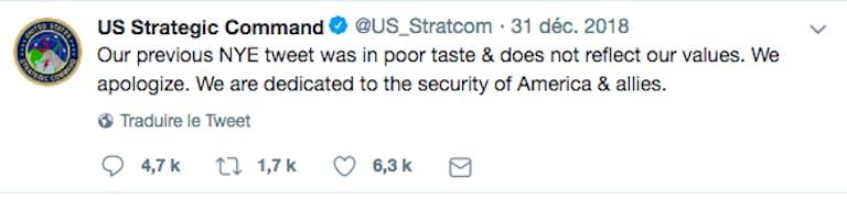 us strategic command tweet