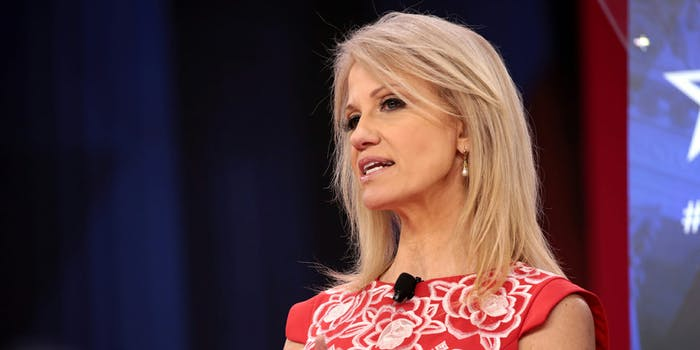Kellyanne Conway has been asked a lot about Trump's 'Game of Thrones' style poster that said 'Sanctions are Coming.' She hasn't given a straight answer.