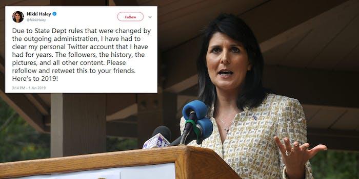 Nikki Haley Twitter