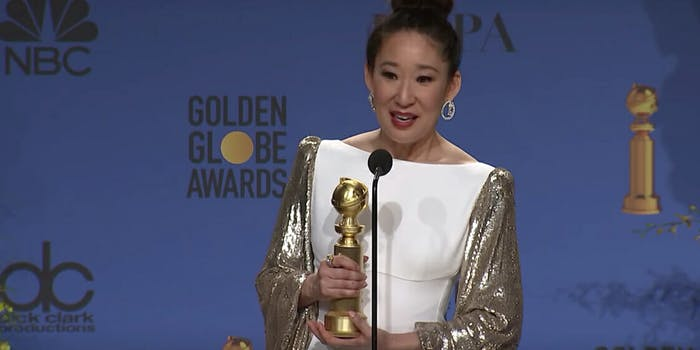 Sandra Oh Golden Globes 2019 Diversity
