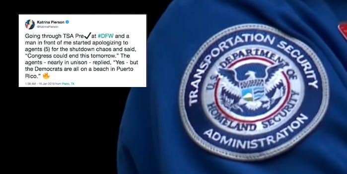 TSA agent meme