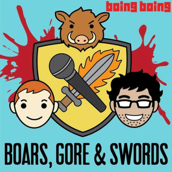 best game of thrones podcasts - boars gore swords