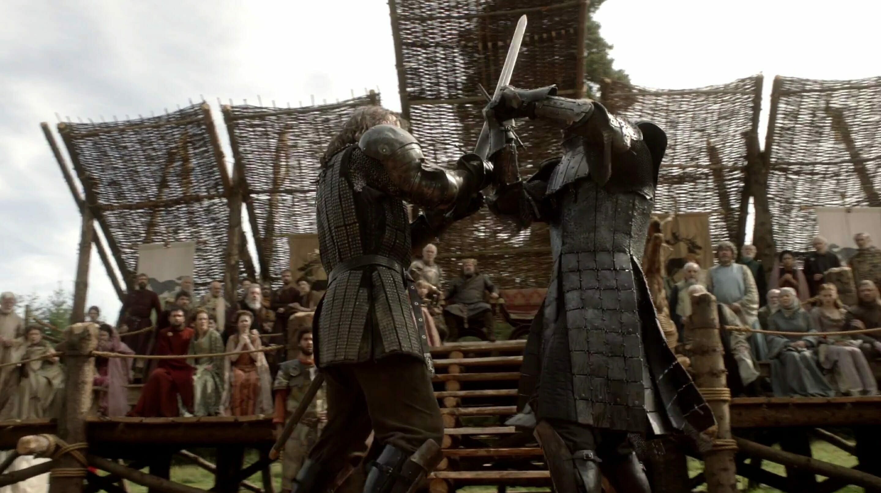 game of thrones cleganebowl mountain hound first fight