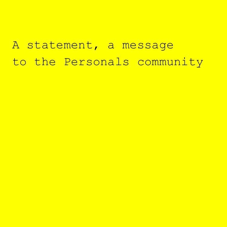message to the community