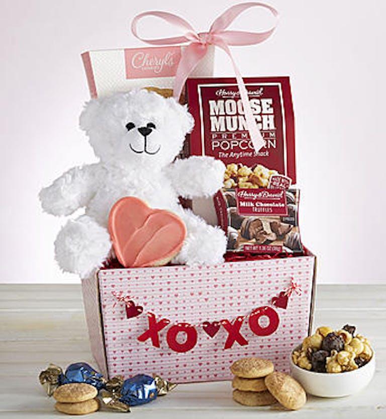 my valentine bear sweets basket