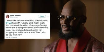 Celebrities are condemning TMZ's positive coverage surrounding R. Kelly.
