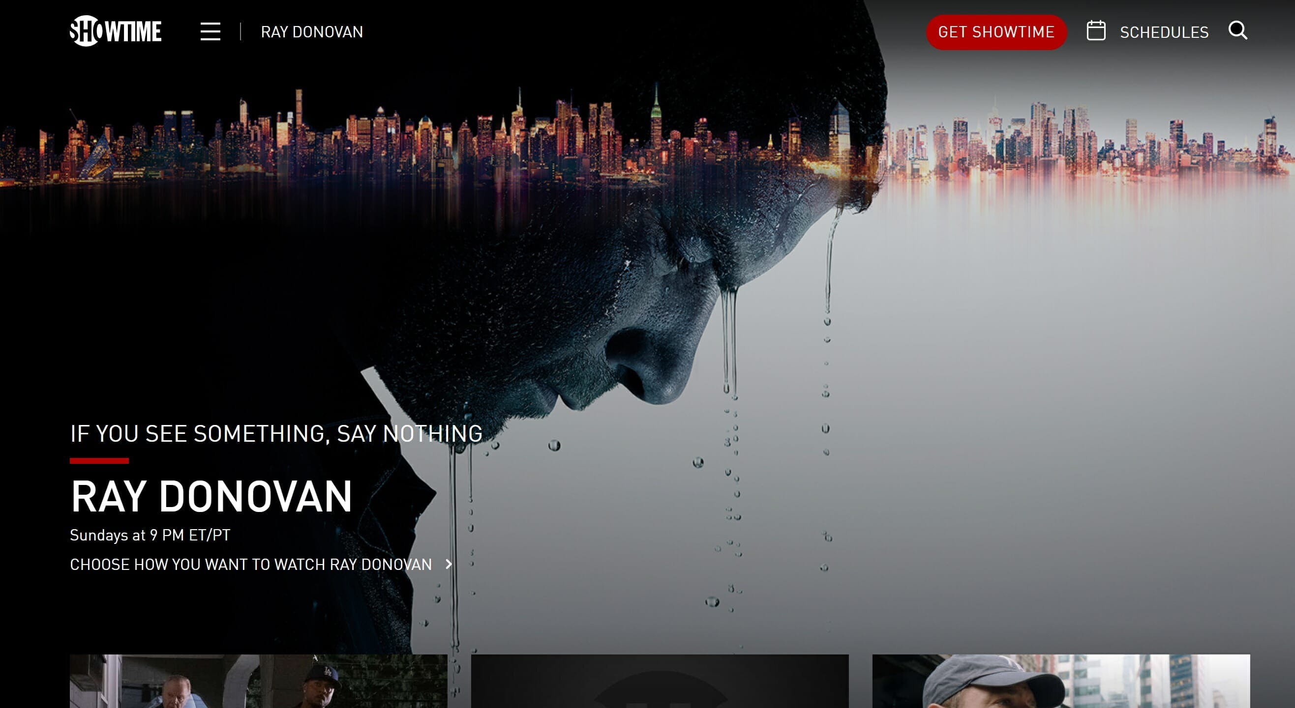 ray donovan showtime stream online for free