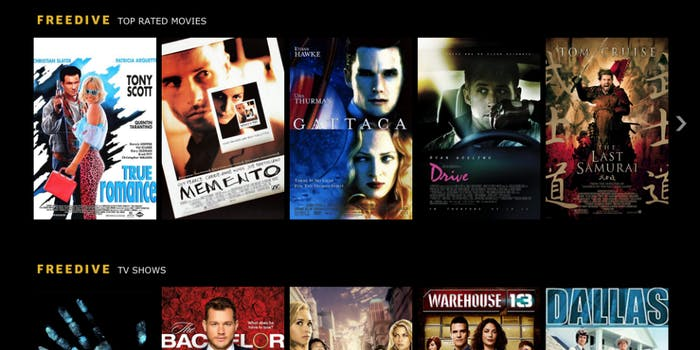 imdb free streaming service freedive