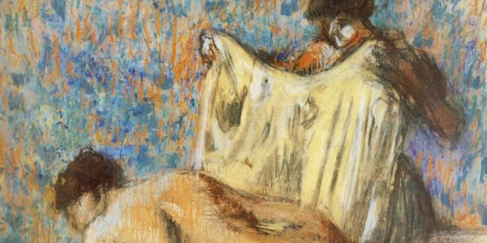 Degas A Woman Leaving Her Bath