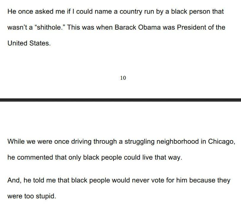 Cohen Opening Statement Trump Racist