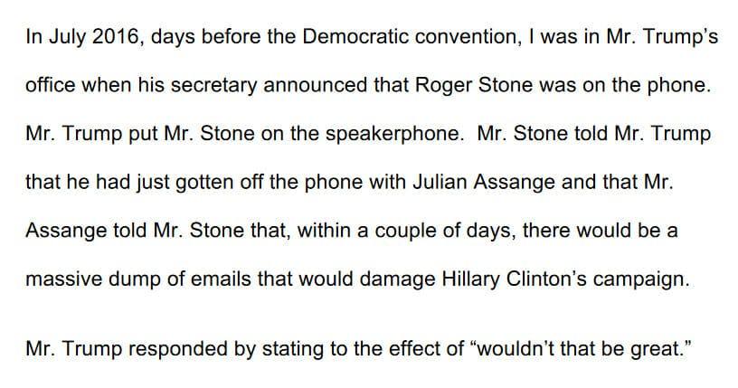 Cohen Opening Statement Wikileaks