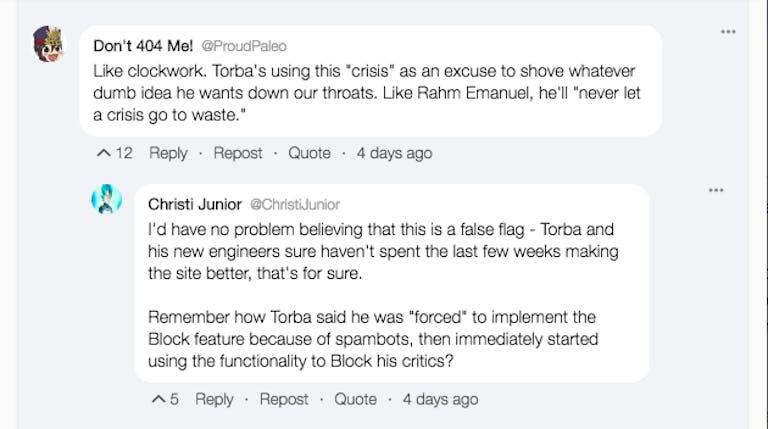 gab users bots false flag