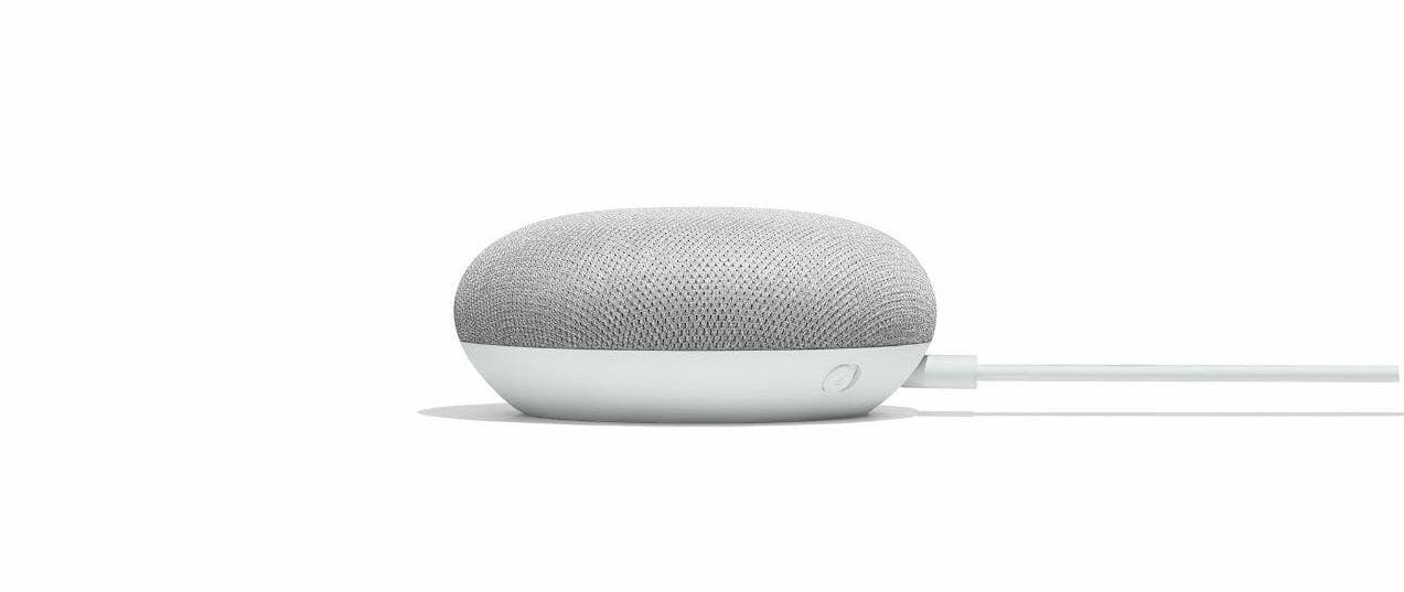 Google Home vs Mini: Google Home Mini side view