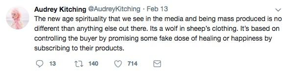 Audrey mass production tweet