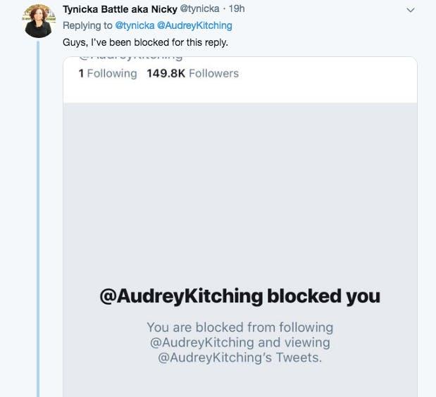 Audrey Kitching block