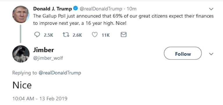 Trump 69 Twitter