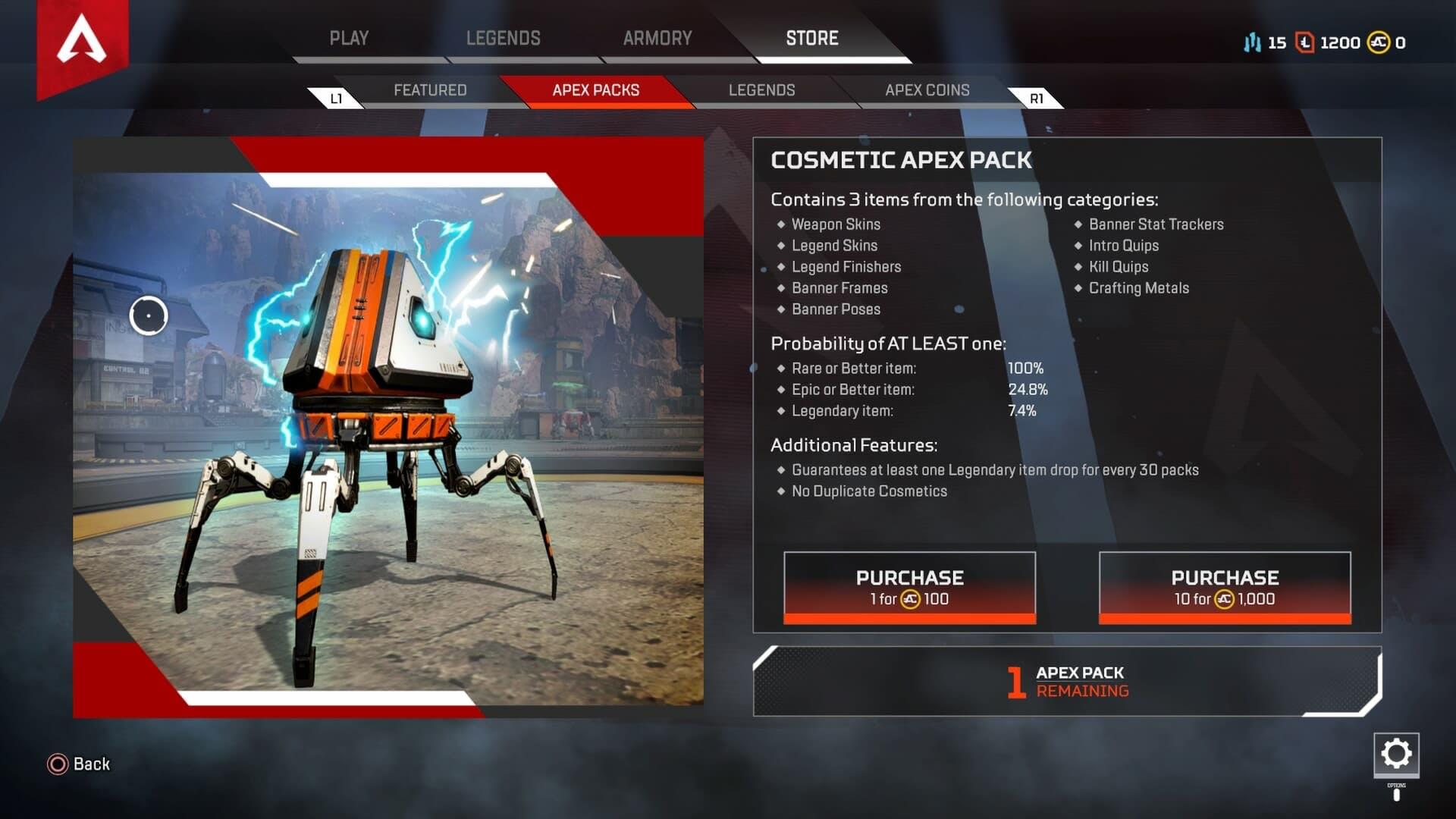 Apex Legends Apex Packs