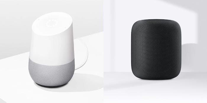 apple homepod vs google home