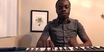 demi adejuyigbe at keyboard