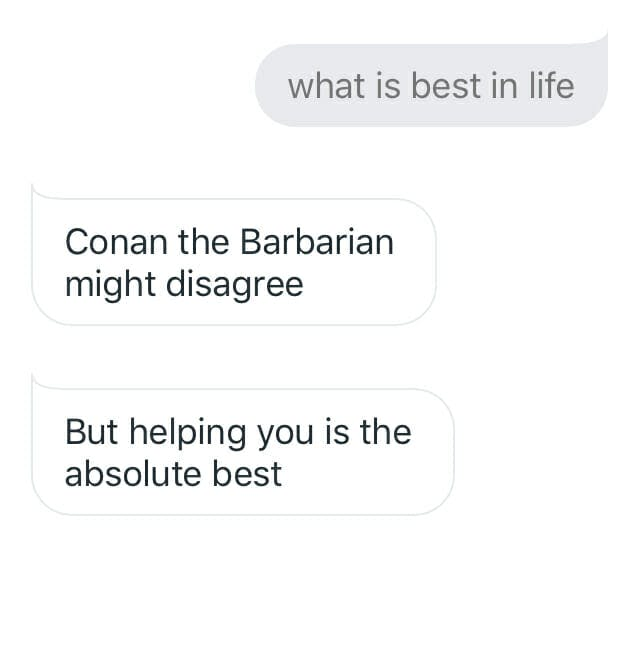 funny things to ask google home - conan the barbarian