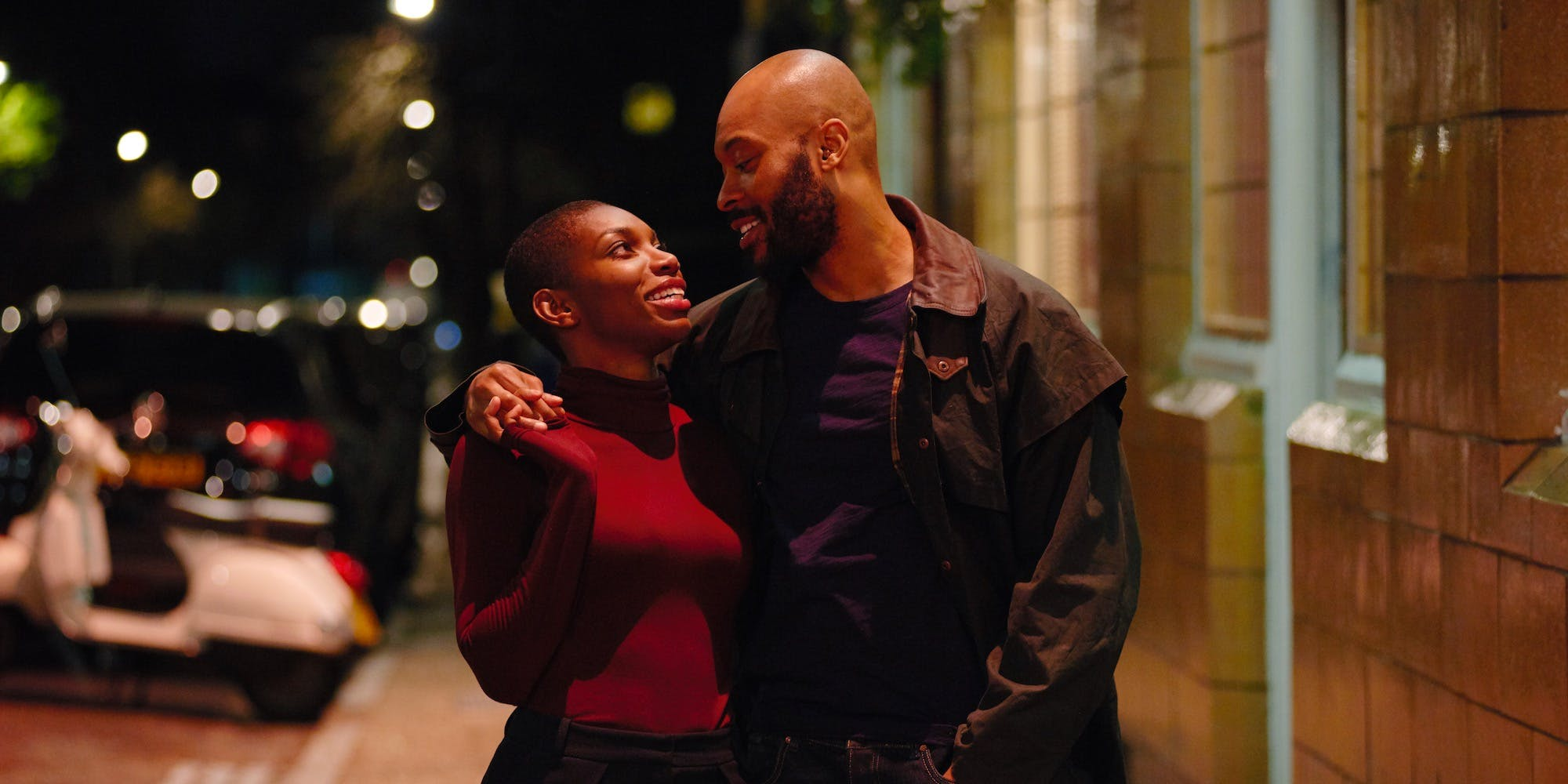 Movie still of Michaela Coel and Arinzé Kene in the musical Been So Long on Netflix.
