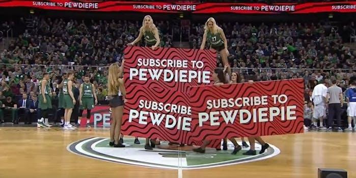 Subscribe to PewDiePie YouTube cheerleaders