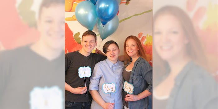 A mom threw a gender reveal party for her 20-year-old transgender son.