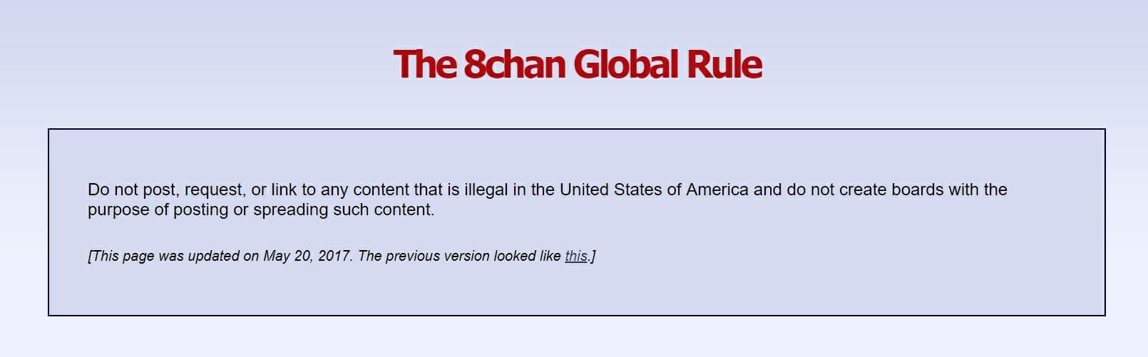 8chan Global Rule