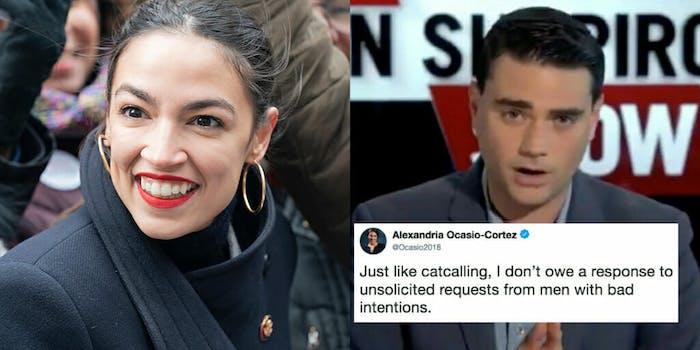 Alexandria Ocasio-Cortez likens Ben Shapiro to a catcaller.