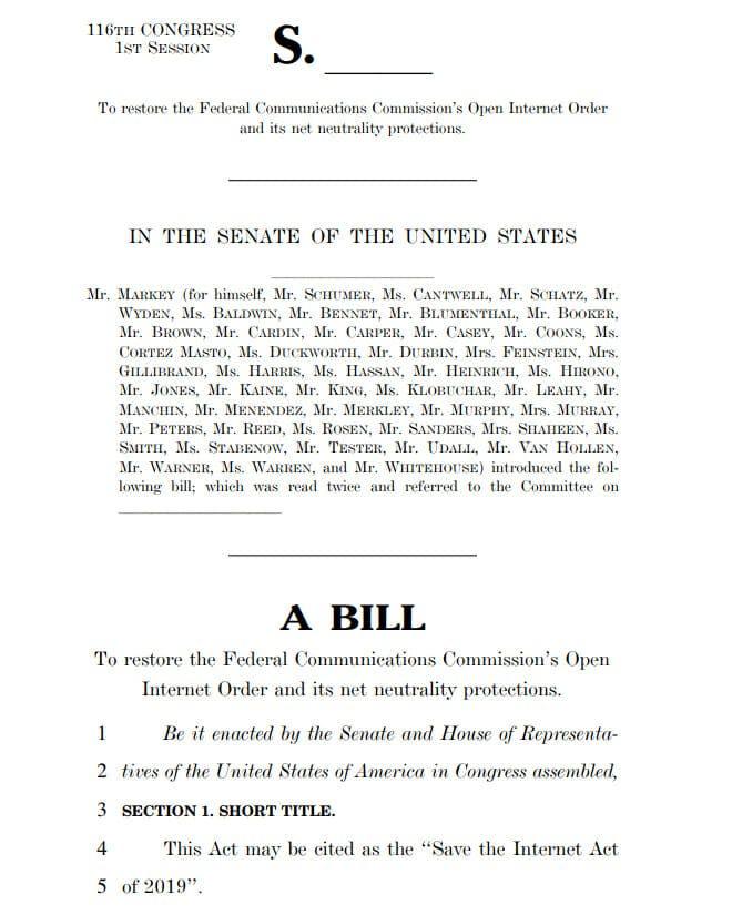 Net Neutrality Save The Internet Act Cosponsors Sinema