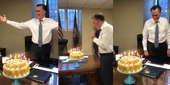 Romney Twinkie Birthday Cake