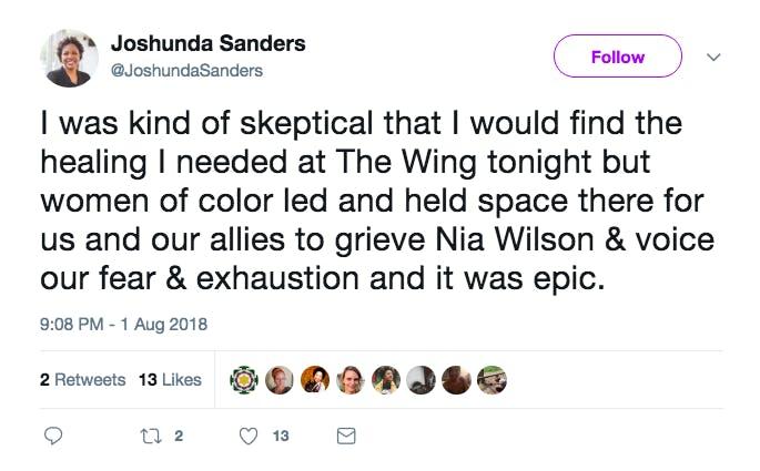 Tweet Nia Wilson Wing