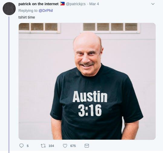 Austin T-shirt time