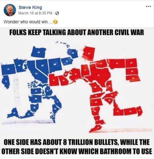 Steve King Civil War Meme Facebook