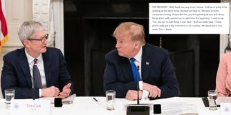 Trump Tim Apple White House Transcript
