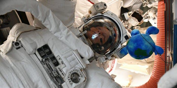 anne mcclain spacesuit