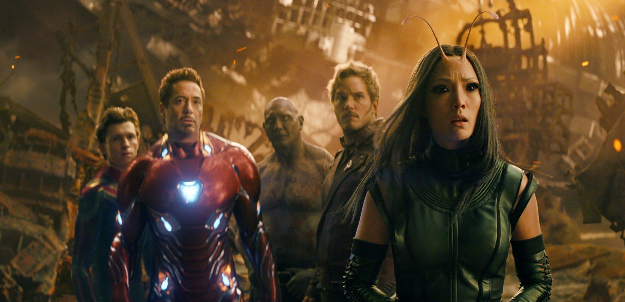 avengers infinity war guardians