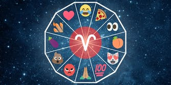 emoji horoscope aries