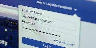 facebook password unencrypted