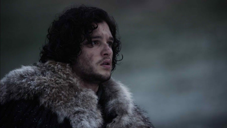 An image showing Jon Snow in his trademark fur coat