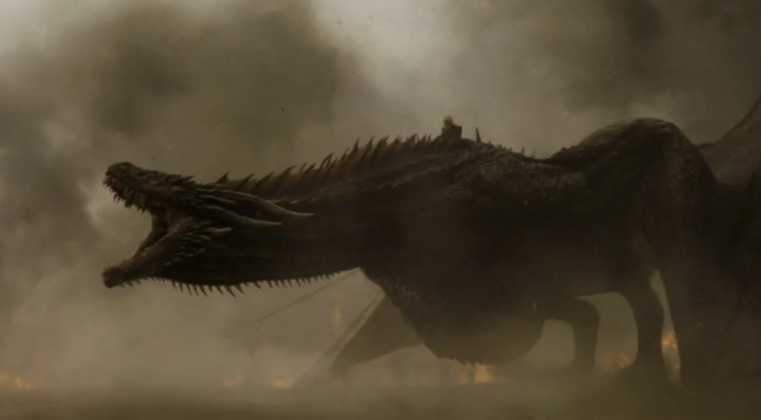 Image showing a dragon with its jaw open wide