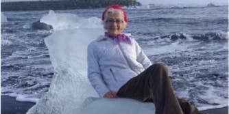 grandma twitter iceberg iceland
